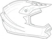 Casque moto dessin